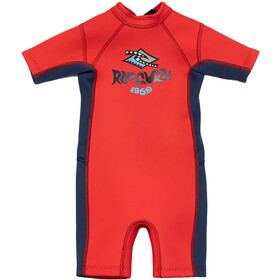 Rip Curl Omega SS Spring Suit Kids, neon red